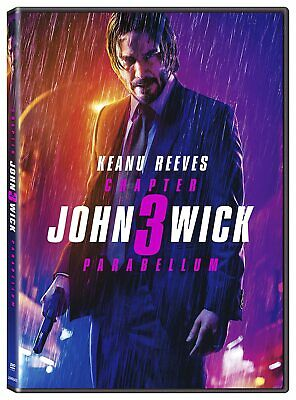 John Wick Chapter 3 Parabellum  DVD Fast Shipping - KEANU REEVES - ACTION - NEW