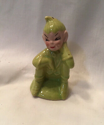 Vintage Pie Bird Funnel Vent Green Pixie Boy Ceramic