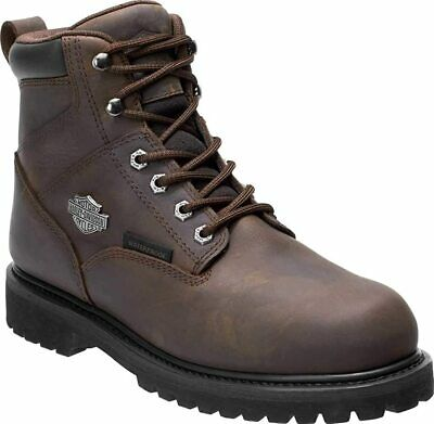 Harley-Davidson Men's Gavern Waterproof Motorcycle Boots D93566 Size 9 Brown