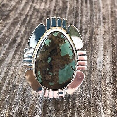 Navajo Royston Turquoise & Sterling Ring Size 6.