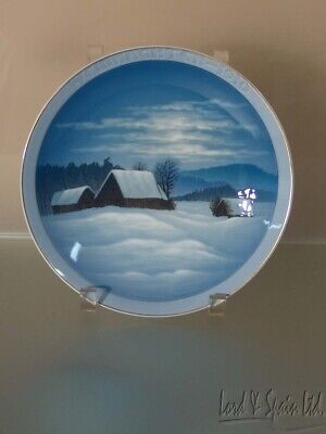 Rosenthal Germany 1910 WINTER PEACE Christmas Plate-1ST in Series