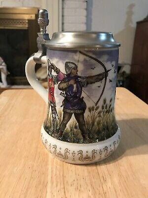Kaiser West Germany Lidded Stein Soldiers And Horseman