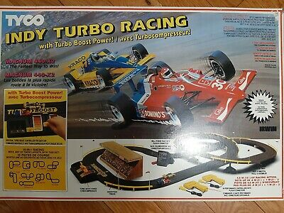 1988 Slot Car Tyco Indy Turbo Racing With Turbo Boost