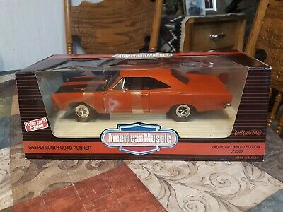 1//18th 1968 Plymouth Hemi Road Runner Black  BLEMISHED