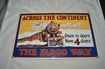 Ande Rooney Porcelain Sign - The Wells Fargo Way