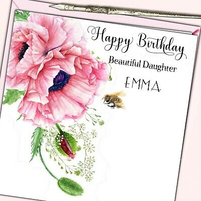 Personalised Birthday Card Sister Friend Grand Daughter Mother 30th 40th 50th