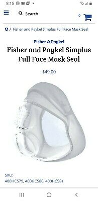 Fisher & Paykel Simplus Full Face Mask w/o HG  M 400HC580 NEW