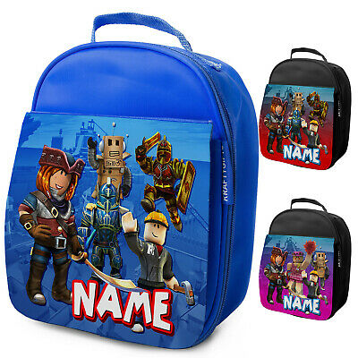 Personalised Boys Roblox Lunch Bag Kids School Insulated Childrens Snack Box