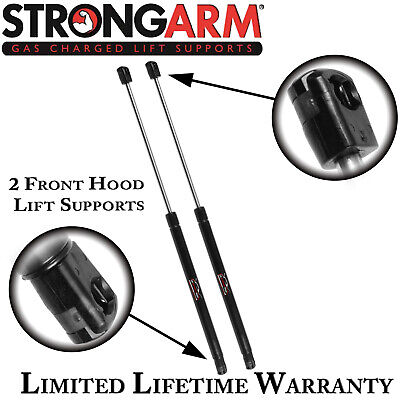 Qty 2 StrongArm 6241 Front Hood Lift Supports Struts Shocks Springs Props