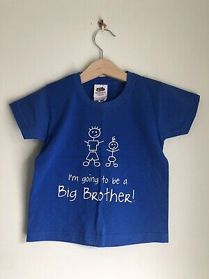 I/'m Going To Be A Big Brother Boys Announcement Childrens Kids T-Shirt Top 561