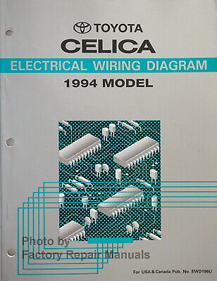 Toyota Celica Supra Manual With Wiring Diagrams And Electrical Test Procedures 25 00 Picclick Uk