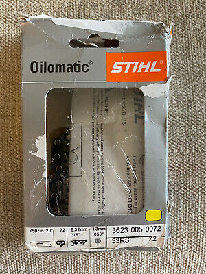 """Genuine Stihl Oilomatic Chainsaw 16/"""" Chain 33RS DL 3//8 Gauge .05 3623 67 Pitch"""