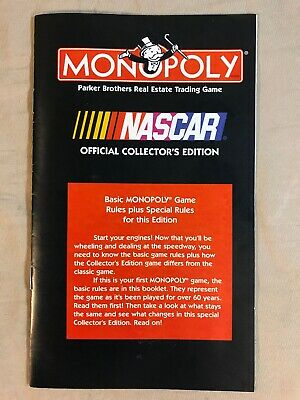 U-PICK 2002 Nascar Collector/'s Edition Monopoly Game Replacement Pieces