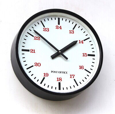 ENGLISH 70s Vintage Wall Clock Retro Industrial Factory Post Office Midcentury