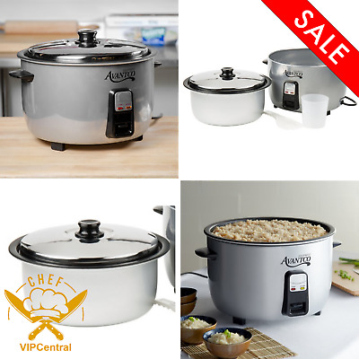 46 Cup  Electric Rice Cooker Warmer Durable Stainless Steel Kitchen Cooking New