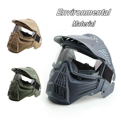 Full Face Combat Protection Mask Safety Goggles With Visor New