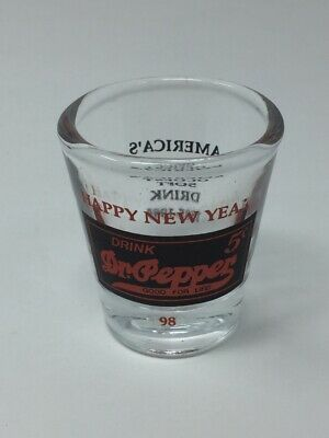 Dr Pepper Shot Glass Happy New Year 1989 America/'s Oldest Soft Drink 1885-1989