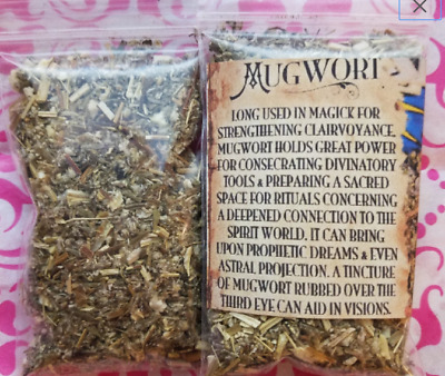 Mugwort HERB Dried Buy 2 Get =ONE Free = Witchcraft Voodoo dreamtime incense tea