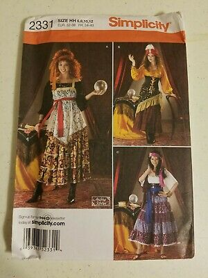 New PATTERN Gypsy SKIRT Top Scarf XS-Med /& L-XL b4889 chacha dress SEWING
