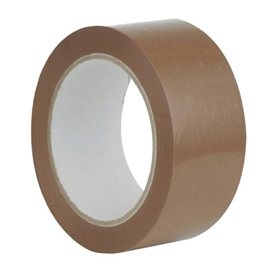 Parcel Tape Strong Brown/Clear 48mm x 66M Packing Long Packaging Removal Moving