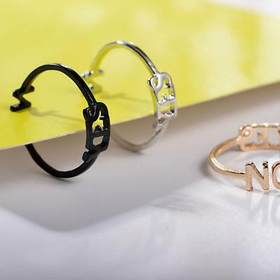 Hot Ring Personalised Ring New Party 1 PC Metal Fashion Personality Yes/&No Ring