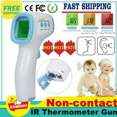 No Touch IR Infrared Digital Forehead Thermometer Baby Adult Body Temperature UK