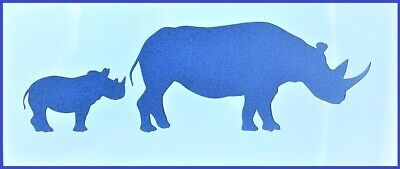Flexible Stencil *MOTHER RHINO /& BABY* Rhinoceros Safari Card Making 21cm x 9cm