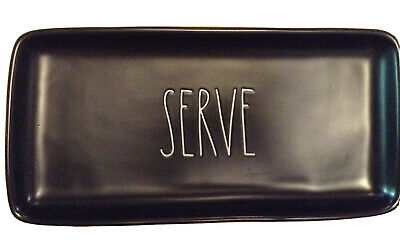 """Donna Karen Home Hand Carved Mango Wood 15/"""" Serve Tray Charger NEW"""