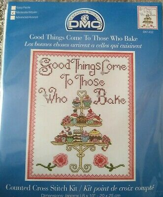 """14 Count Charted Cross Stitch Kit/""""Becoming a Grandmother/"""" 32x39cm"""