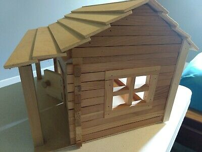 Woodcraft Construction Kit Doll House Room 3D Wooden Vacation Home Kids Toy