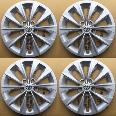 """4 x 16"""" Silver Hubcaps Rim Wheel Covers for 2015-2018 TOYOTA CAMRY L LE"""