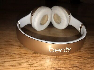 Beat By Dr Dre Solo 3 Wireless Bluetooth On Ear Headphones Satin Gold 119 99 Picclick Uk