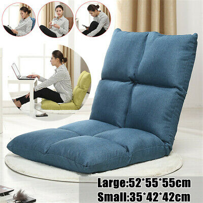 52*55*55CM Foldable Lazy Sofa Single Bed Backrest Chair Floor Couch Gaming