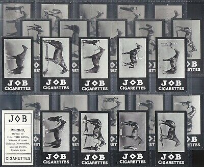 Societe Job-Full Set- Racehorses (25 Cards) Horse Racing - Exc+++ All Scanned