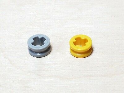 LEGO LOT of 20 Yellow TECHNIC Bush 1//2 Smooth Round Parts NEW 4265C