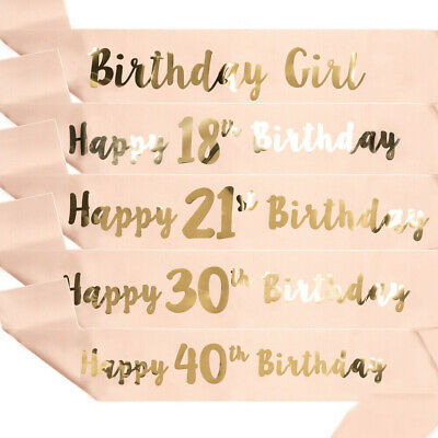 One Size HOWAF Rose Gold 18th Birthday Sash Party Decoration It/'s My 18th Birthday Satin Sash Birthday Gift 18th Birthday Accessories for Girls