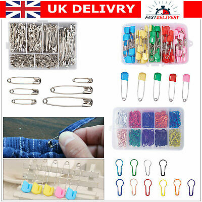S//M//L ASSORTED SAFETY METAL PINS Small Silver CRAFT SEWING DRESS MAKING BABY PIN
