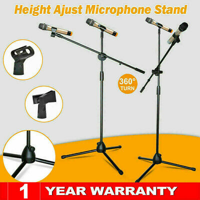 Professional Boom Microphone Mic Stand Phone Holder Adjustable With 2 Free Clips