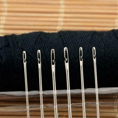12 Pcs/Set Stainless Steel Knitting Yarn Blunt Needles 3 Sewing Tool Sizes Y3D8