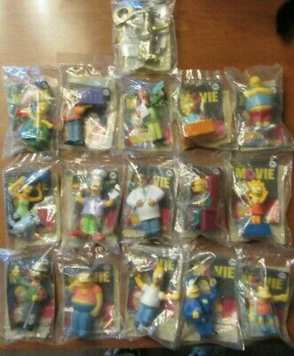 The Simpsons Movie Burger King 2007 Complete Lot Of 16 Figures With Golden Homer 29 99 Picclick