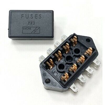4 Way Fuse Box For 32mm Glass Fuses With Side Connections - Lucas 37420 7FJ Type