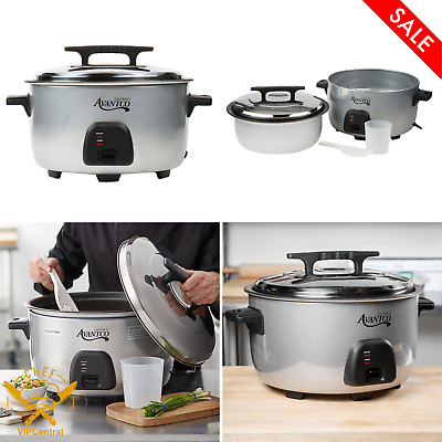 (30 Cup Raw)Avantco Commercial 60 Cup Electric Rice Cooker / Warmer 120V 1750W
