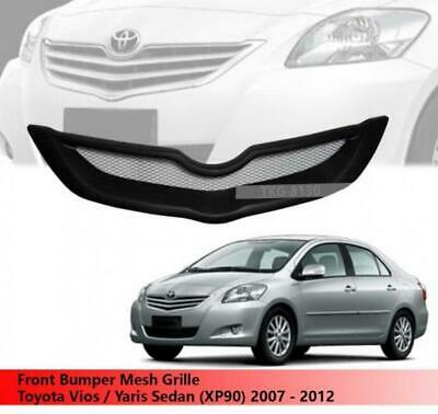 SILVER BLACK FRONT GRILL GRILLE NET FOR TOYOTA YARIS 4DR SEDAN VIOS BELTA 06-12