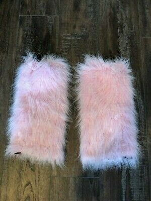 Baby Pink Fluffy Leg Warmers Rave Wear
