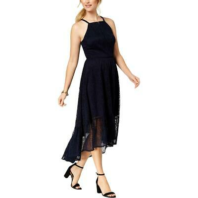 Vince Camuto Womens Navy Polka Dot Fit /& Flare Cocktail Party Dress 0P BHFO 6009