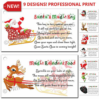 63 Reindeer Food Christmas Xmas Stickers Labels High Quality Fete Fair Charity