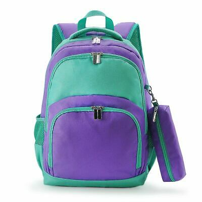 Mint Purple School Bag Backpack with Pencil case
