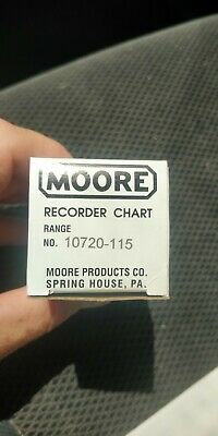 Details about  /Vintage Moore Recorder Chart Range 100 To 150 Lines