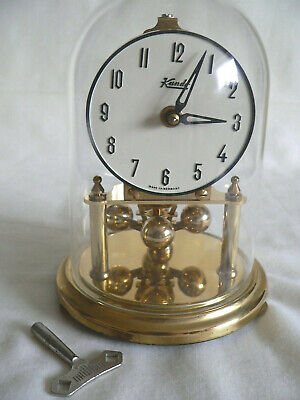 Vintage Kundo Germany Brass Anniversary Dome Clock with key-Not working