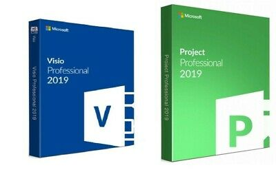 GENUINE MS Project Professional 2019 and Visio PRO 2019 Instant delivery
